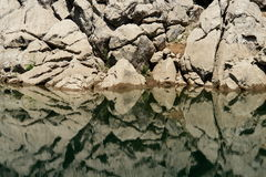 Beautiful river bank _ abstract. Beautiful river bank, river Lika stock photography