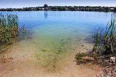 Beautiful river bank. Pure water royalty free stock photo