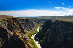 Beautiful river in Charyn canyon Stock Image