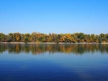 Beautiful River Danube. With aun trees stock image