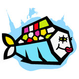Beautiful river fish logo Royalty Free Stock Photography