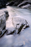 Beautiful river flow over the stone Stock Photo