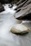 Beautiful river flow over the stone Stock Image