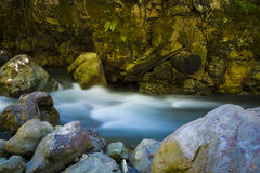 Beautiful river flowing among rocks Stock Image