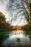 Beautiful river. In Fontaine-de-Vaucluse, France Royalty Free Stock Image