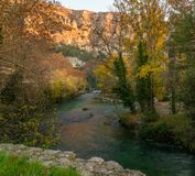 Beautiful river in France. Beautiful river in Fontaine-de-Vaucluse, France Royalty Free Stock Photos