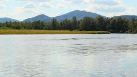 Beautiful river. HD. Beautiful river with mountains in the background stock video