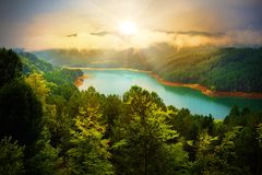 Beautiful river landscape Royalty Free Stock Images