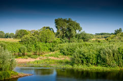 Landscape with river and vegetation Stock Photo