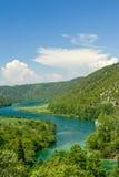 Beautiful river landscape scene Stock Images