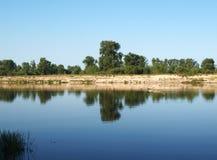 Beautiful river landscape Stock Photos