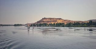 The river of Nile in Aswan Royalty Free Stock Images