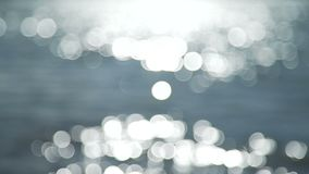 Bokeh Balls from the River. The Beautiful River is out of Focus and Dynamic Bokeh Balls stock footage