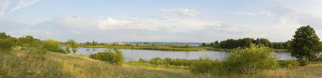 Beautiful river panorama Royalty Free Stock Images