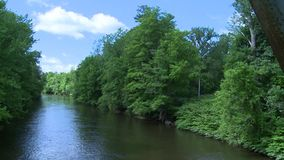 Beautiful river running through the greenery (7 of 7) stock video footage