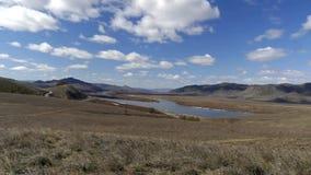 Beautiful river Selenga in Buryatia, Russia stock footage