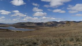 Beautiful river Selenga in Buryatia, Russia stock video