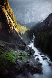 Beautiful river with a strong current royalty free stock photography