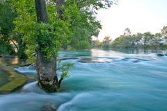 Beautiful river at sunset Stock Image