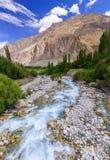 Beautiful river at Turtuk village, Diskit, Jammu and Kashmir, In Royalty Free Stock Image