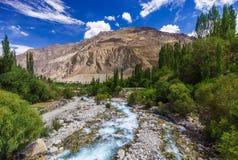Beautiful river at Turtuk village, Diskit, Jammu and Kashmir, In Royalty Free Stock Photography