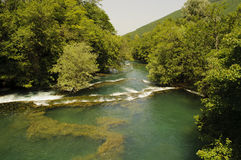 Beautiful river Una Royalty Free Stock Image