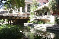 Beautiful river walk in san antonio. Beautiful river walk in downtown San Antonio, Texas Stock Photo