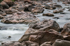 Beautiful River water flowing through stones and rocks Royalty Free Stock Photo