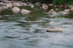 Beautiful River water flowing through stones and rocks Royalty Free Stock Image