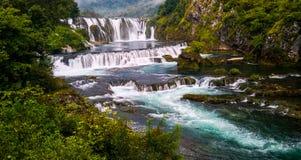 Beautiful river and waterfall stock image