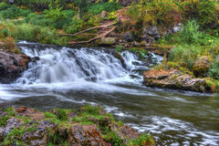 Beautiful River Waterfall in HDR High Dynamic Range Stock Photography