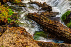 Beautiful River Waterfall in HDR High Dynamic Range Royalty Free Stock Images