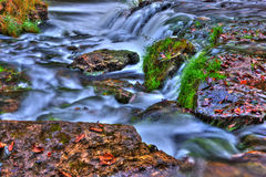 Beautiful River Waterfall in HDR Royalty Free Stock Image