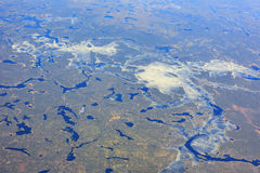 Beautiful rivers, ice over Lac Seul Stock Images