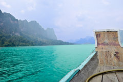 Beautiful rivers and mountain, Natural attractions in Ratchapapha dam. Beautiful rivers and mountain, Natural attractions Stock Images