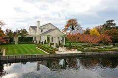 Beautiful riverside country villa Royalty Free Stock Photos