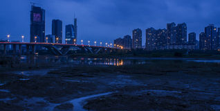 The beautiful riverside of night Royalty Free Stock Images