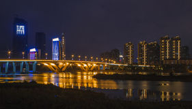 The beautiful riverside night Stock Photo