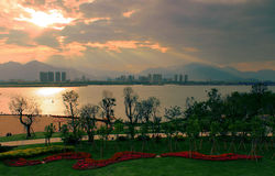 The beautiful riverside scenery Stock Photo