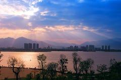 The beautiful riverside scenery Royalty Free Stock Photo