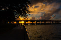 Beautiful Riverwalk in Bradenton Florida royalty free stock images