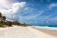 The beautiful Riviera Maya with turquoise waters near Tulum Royalty Free Stock Image