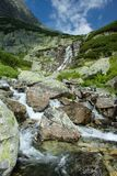 Beautiful rivulet and waterfall Royalty Free Stock Image