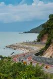 Beautiful road. Along the sea Royalty Free Stock Image