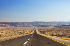 Beautiful road in the desert Royalty Free Stock Photo
