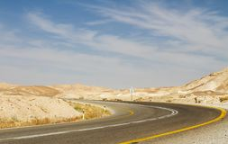 Beautiful road in the desert . Stock Photography
