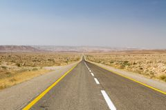 Beautiful road in the desert . Stock Images