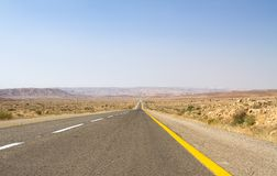 Beautiful road in the desert . Stock Image