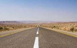 Beautiful road in the desert . Stock Photo