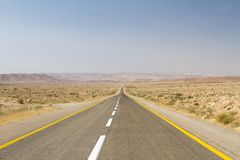 Beautiful road in the desert . Royalty Free Stock Image